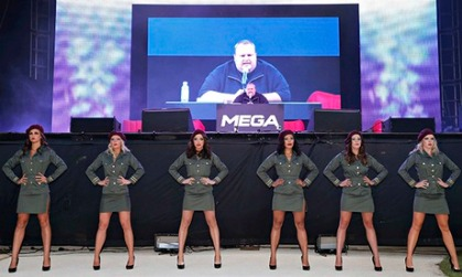 "Megaupload founder Kim Dotcom launching new file sharing site ""Mega"" in Auckland"
